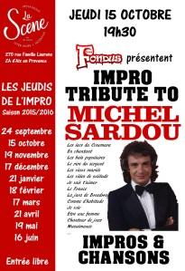 affiche tribute Sardou