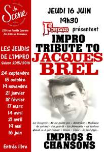 affiche tribute Brel